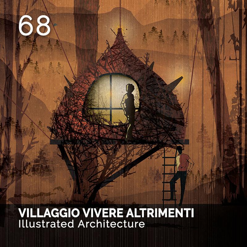 Glamour Affair Vision N.3 | 2019-03 - VILLAGGIO VIVERE ALTRIMENTI Illustrated Architecture - pag. 68