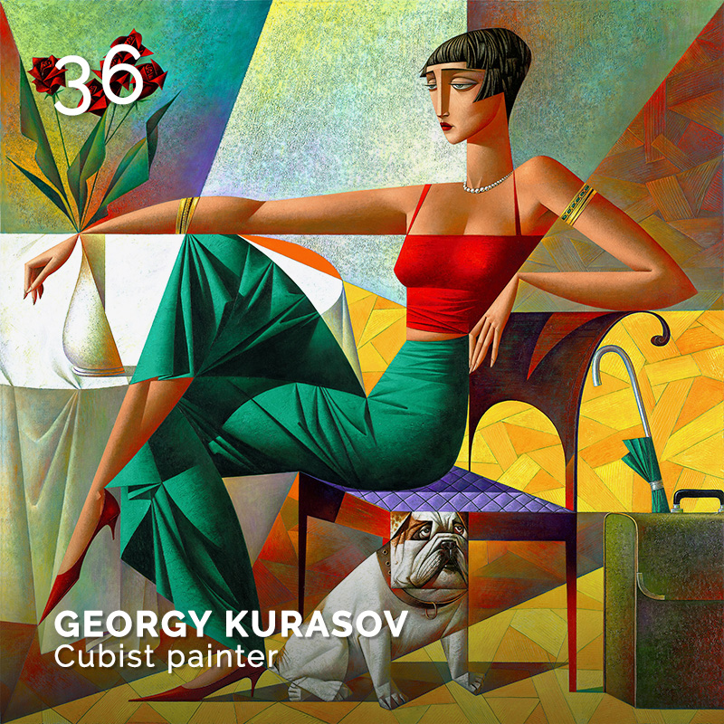 Glamour Affair Vision N.4 | 2019-07.08 - GEORGY KURASOV Cubist painter - pag. 36
